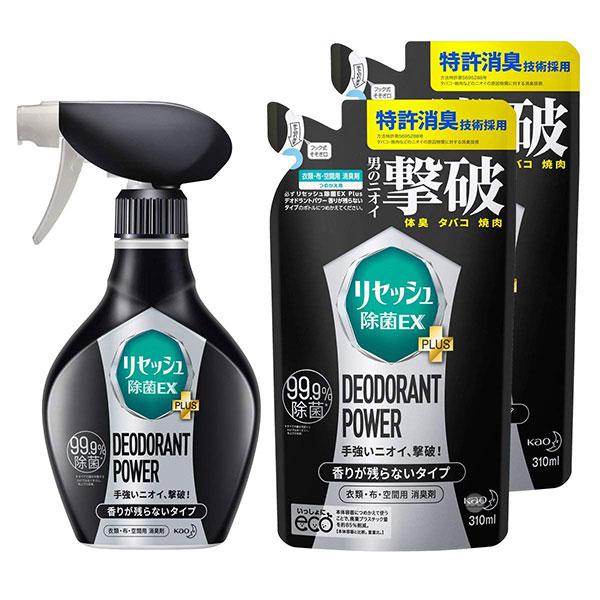 [KAO] 카오 리셋슈 제균 EX 냄새 탈취제 스프레이 파워 젠틀 시트러스향 본체 360ml