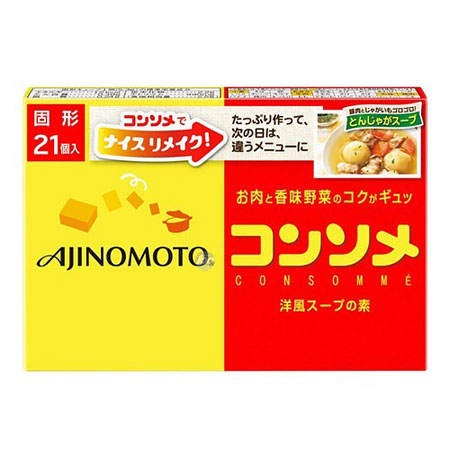 [아지노모도] 콘소메 큐브 21개입 111.3g