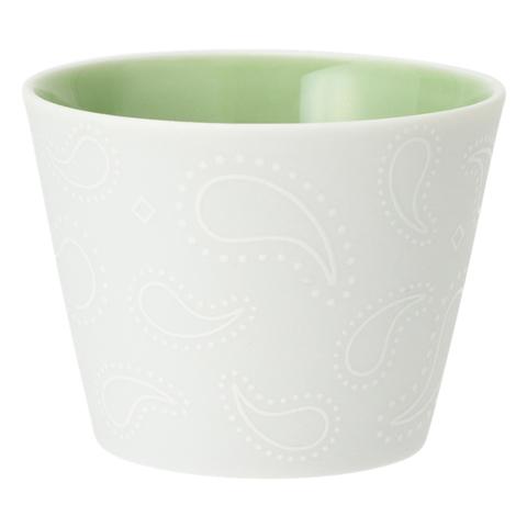 미노 도자기 백자 프리 컵 페이즐리 민트 그린