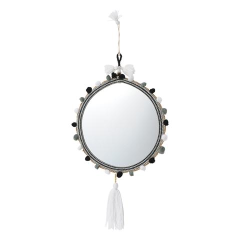 술 벽 거울 L 화이트 x 블랙