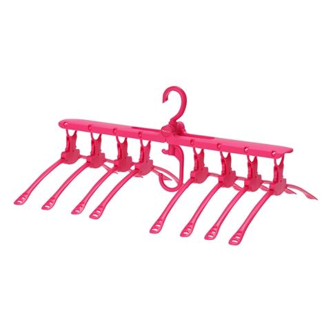원터치 8 연 옷걸이 핑크